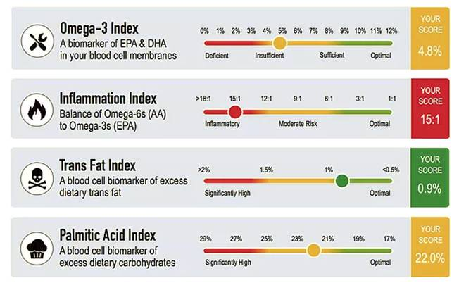 omega fatty acid levels